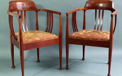 2 Arts & Crafts Armchairs, England