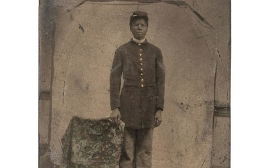 Civil War Quarter Plate Tintype of African American