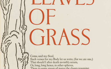 Grabhorn Press.- Whitman (Walt) Leaves of Grass..., one of 400 copies, woodcut by Valenti Angelo, New York, printed by the Grabhorn Press of San Francisco for Random House, 1930.