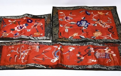 3 Chinese Silk Embroidered Textiles