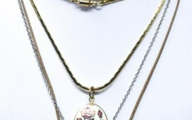 3 Costume Jewelry Necklaces Including Cloisonne