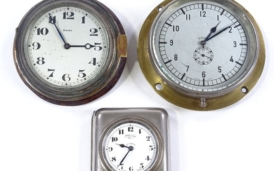 3 early 20th century car dashboard clocks, all with 8 day me...
