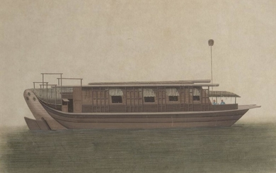 19th century Chinese school, gouache on paper,...