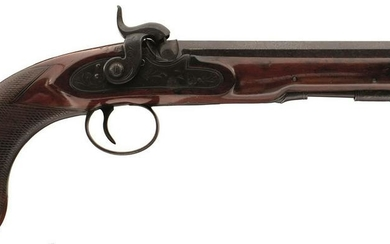A 40-BORE PERCUSSION TRAVELLING PISTOL BY SIMMONS