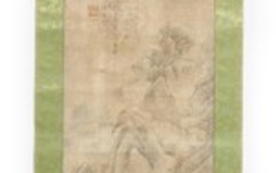 A CHINESE PAINTING OF A LANDSCAPE QING DYNASTY (1644-1912) OR EARLIER The De Voogd Collection