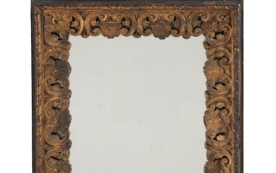 A Continental carved giltwood wall mirror
