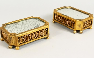 A GOOD PAIR OF 19TH CENTURY FRENCH ORMOLU STANDS,