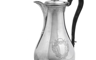 A George III silver baluster chocolate pot by William Skeen