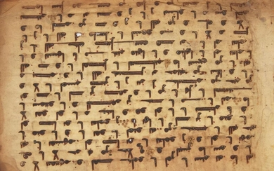 A Kufic Qur'an folio, Near East or...