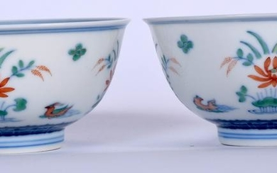 A PAIR OF EARLY 20TH CENTURY CHINESE DOUCAI PORCELAIN