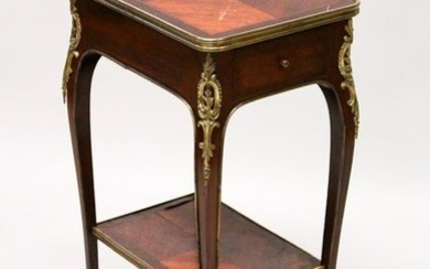 A SMALL LATE 19TH CENTURY FRENCH MAHOGANY AND ORMOLU