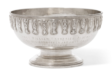 A VICTORIAN SILVER SMALL BOWL, MARK OF HENRY WILLIAM CURRY, LONDON, 1880