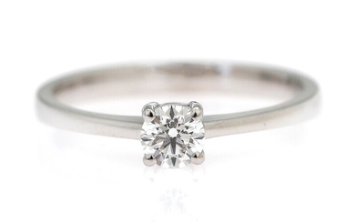 NOT SOLD. A diamond ring set with a brilliant-cut diamond weighing app. 0.30 ct., mounted...