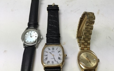 A ladies Nivada automatic watch plus 2 additional watches in...