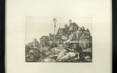 AFTER ALBRECHT DURER POSTHUMOUS ENGRAVING ON PAPER