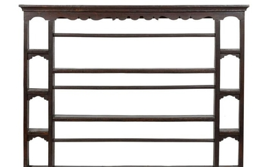 An English Oak Plate Rack Height 41 x width 53 inches.