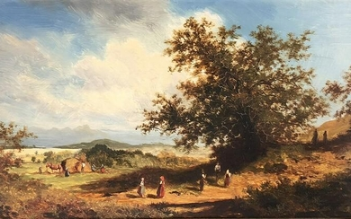 Andreas MITTERFELLNER (1912 - 1972). Haymaking and