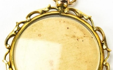 Antique 14kt Gold Double Sided Locket Pendant