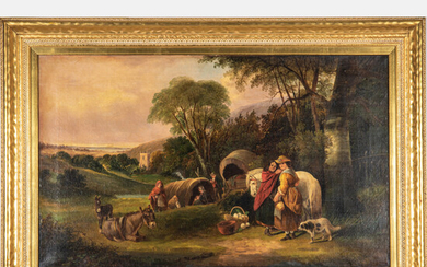 Artist Unknown, (English, 19th Century) - English Landscape with Figures