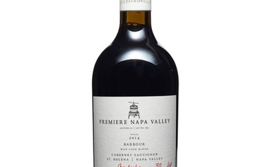 Barbour Vineyards, Man Cave Blend VII Cabernet Sauvignon 2014, Premiere Napa Valley In two original cartons Premiere Napa Valley offers limited edition, small production (60-240 bottles produced), one-of-a-kind cuvées from top tier California...