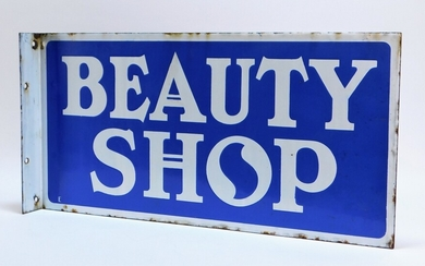 Beauty Shop Double Sided Porcelain Sign