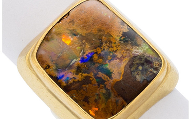 Boulder Opal, Gold Ring, Lilly Fitzgerald The ring features...