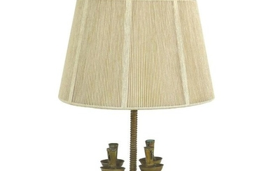 Brass 19th Century Candelabra Mounted as a Table Lamp,