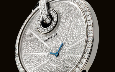 CARTIER. A FINE AND IMPRESSIVE 18K WHITE GOLD AND DIAMOND-SET WRISTWATCH, SIGNED CARTIER, CAPTIVE DE CARTIER XL MODEL, CASE NO. 90322QX, CIRCA 2010