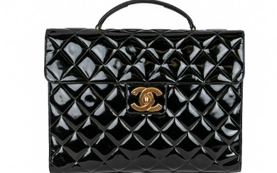 CHANEL PATENT LEATHER BRIEFCASE