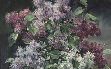 CHAPEL, PAUL. FLORAL STILL LIFE WITH LILAC. 55...