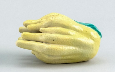 """CHINESE PORCELAIN ALTAR FRUIT In the form of a citron. Length 5.7""""."""