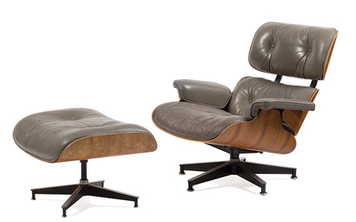 Charles & Ray Eames: Lounge chair and ottoman (2)