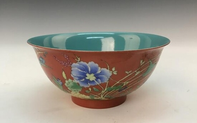 Chinese Faience 'Flower' Bowl, Yongzheng Mark