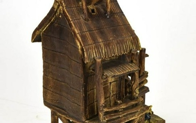 Chinese Glazed Pottery Model House Statue