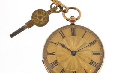 Continental 9ct gold ladies open face pocket watch, 4.5cm in...
