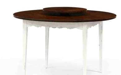 Country Pine Lazy Susan Dining Table