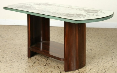 FRENCH MACASSAR MIRRORED COFFEE TABLE C.1950