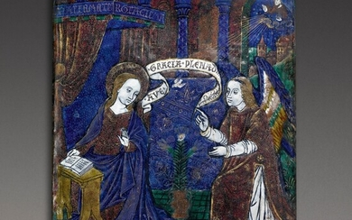 French, Limoges, circa 1500 | Plaque with the Annunciation