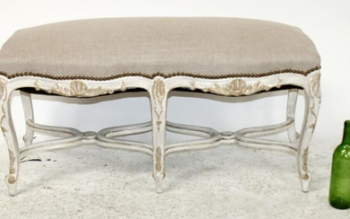 French Louis XV style carved backless bench