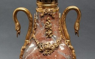 French Louis XVI Style Ormolu Mounted Marble Urn