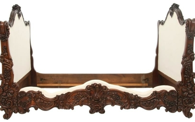 French Rosewood Rococo Day Bed