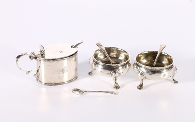 George V silver mustard pot by Catchpole & Williams...