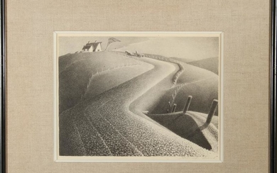 """Grant Wood """"March"""" AAA Lithograph"""