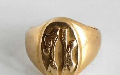 HORSE HORSE in yellow gold, encrypted. Weight 11,3 g