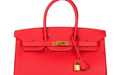 Hermès Rouge Tomate Birkin 35 of Epsom Leather with Gold Hardware