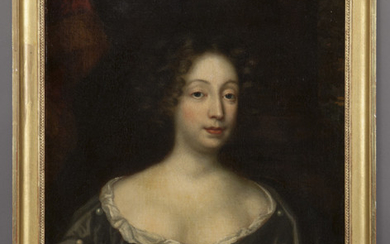 """In the style of Sir Peter Lely """"Untitled (Portrait"""