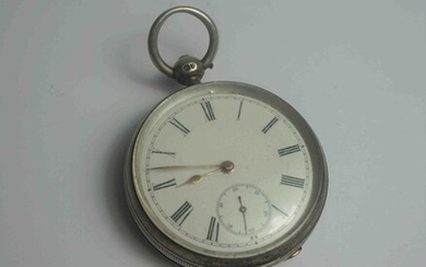 Longines Silver Cased Pocket Watch, Having A Subsidiary Seconds Dial, Stamped Baume Longines to