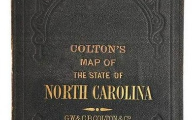 Map of the State of North Carolina