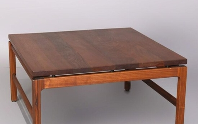 Midcentury Danish Modern Gunlocke Walnut Coffee Table