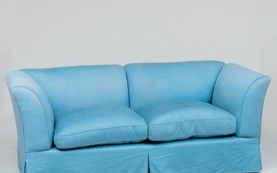 Modern Two Seat Upholstered Sofa